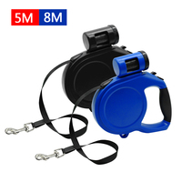 5M 8M Retractable Dog Leash Automatic Extending Pet Walking Leads With Waste Poop Bag For Small
