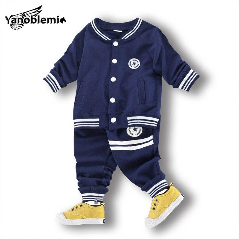 Boys Brand Baseball Clothing Sets Print StripesTracksuit ...