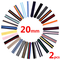 2PCS Watch Strap 20mm Nylon Woven Nylon Strap Watch Accessories For Watches Women Men