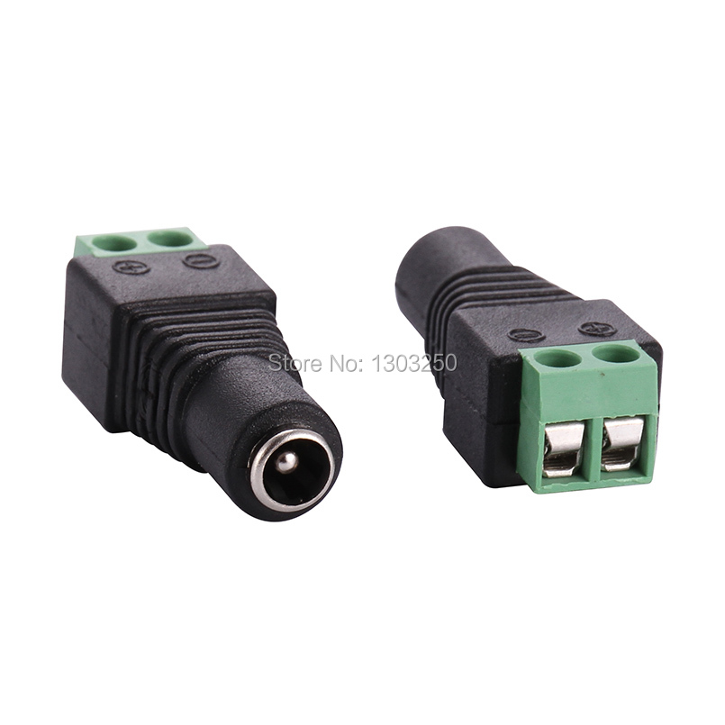 500Pcs 2.1x5.5mm DC Male Power Jack Connectors Plug  Adapter for CCTV Security
