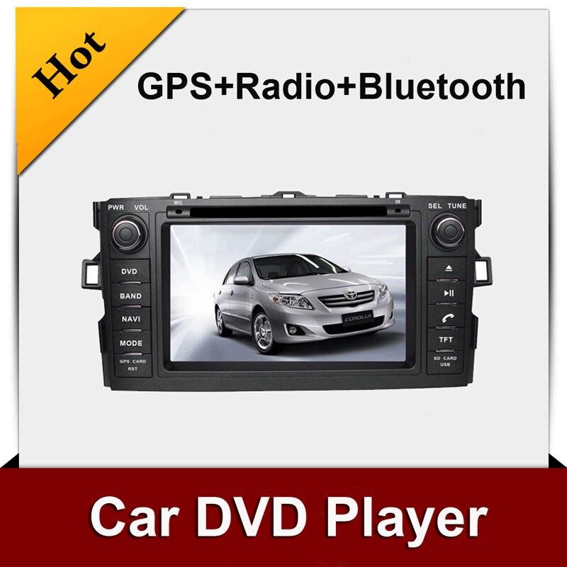 Doble 2 din car dvd player de Navegación gps para AURIS/COROLLA HATCHBACK de Rad
