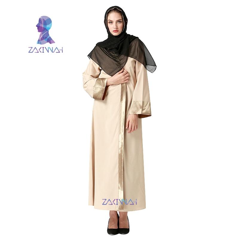 2017 kvinnor ny Vuxen Casual Robe Musulmane Turkisk Tryckt Abaya - Nationella kläder