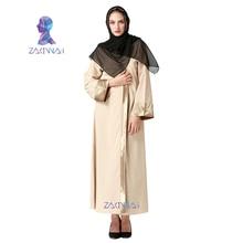2017 vrouwen nieuwe volwassen casual gewaad musulmane turkse gedrukt abaya moslim jurk vest gewaden grote islamitische kleding