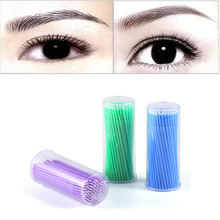 GRACEFUL 100Pc/ Bottle Purple size S Microblading Micro Brushes Swab Lint Free Tattoo Permanent Supplies OCT28