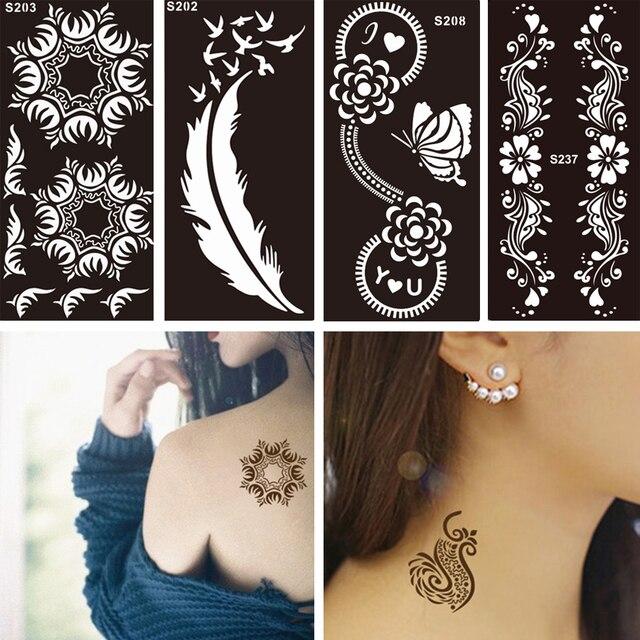 1 STÜCK Einweg Schwarz Gefälschte Henna Indische Arabische Tattoo ...