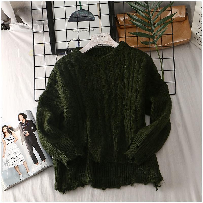 2019 Green red Casual Lunga Maglione Pullover Maglia Di Manica Magliette In Solido Bello Inverno Camicette Femminile collo yellow O Autunno A Lavoro E rRr0qF