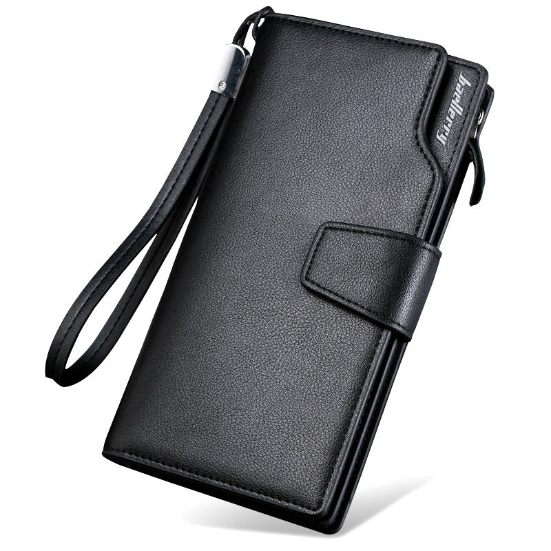 все цены на Luxury Brand Baellerry Men Organizer Long Wallet Coin Purse Male Money Pocket Wristlet Pochette Clutch Card Holder Passport Case