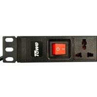 TOWE EN10 W801K 10A 8 WAYS GB1002 Universal With On Off SwitchPDUs 19 Cabinet Socket Power