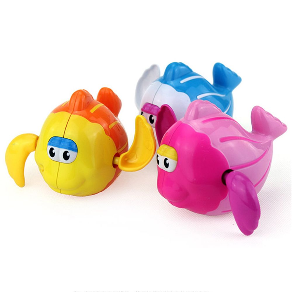 Lovely Plastic Cartoon Swimming Fish Shaped Baby Kids Bath Toy Wind ...