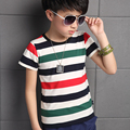 Kids Boys short-sleeved T-shirt 2016 summer new children's striped casual round neck compassionate big virgin shipping