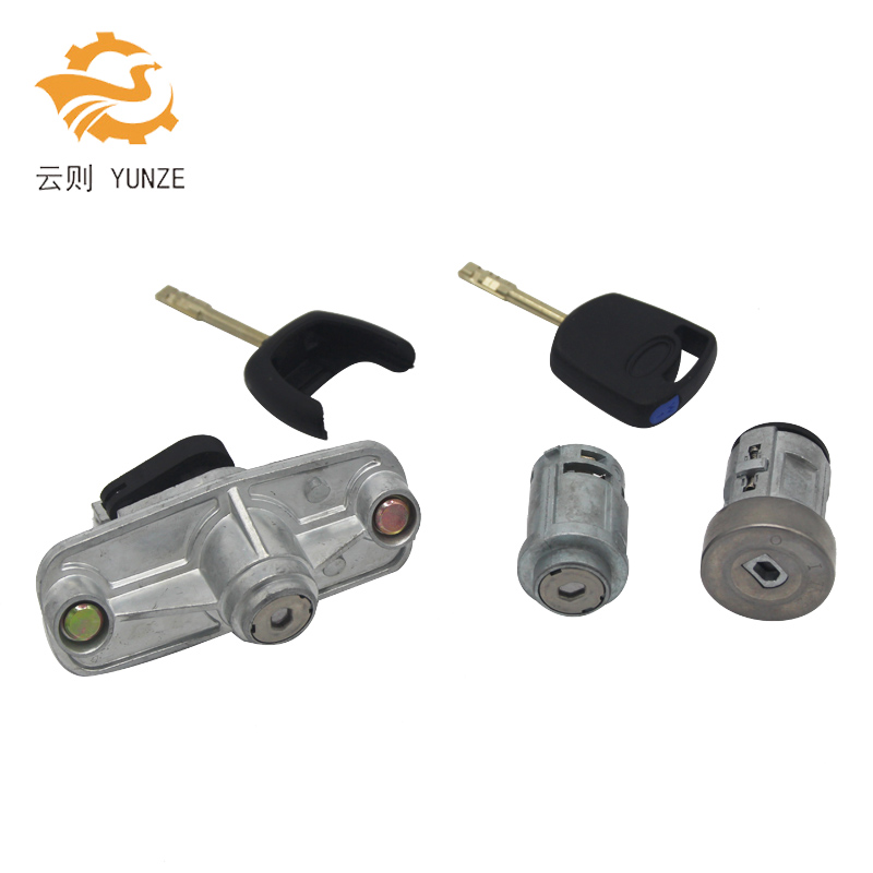 LK1S71F22050AA COMPLETE LOCK SET IGNITION SWITCH DOOR LOCK TRUNK LOCK FOR FORD MONDEO 2001-2007 for ford mondeo mk4 2007 2014 for mondeo ca2 2007 bonnet hood lock latch catch block 1490198 7s7a 16700 bf