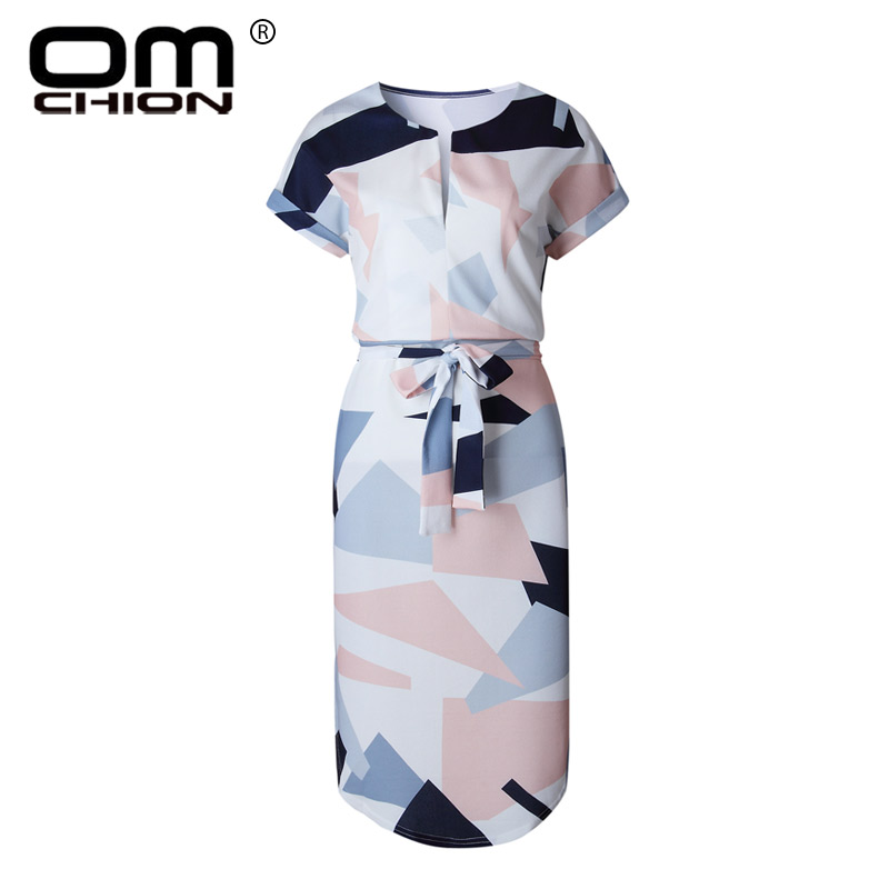 OMCHION Plus μέγεθος 2018 καλοκαιρινό φόρεμα - Γυναικείος ρουχισμός - Φωτογραφία 2