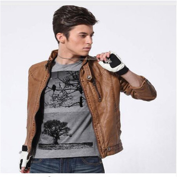 Men Motorcycle Leather jackets 2018 New Fashion Brand Men's Autumn Winter Fleece Leather jacket Jaqueta De Couro Masculina M-3XL