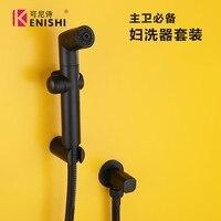 Handheld Hygienic Shower Portable Bidet Water Sprayer Gun Brass+ pastic Toilet Bidet Tap Set Mixer Bidet Head Bidet Faucets
