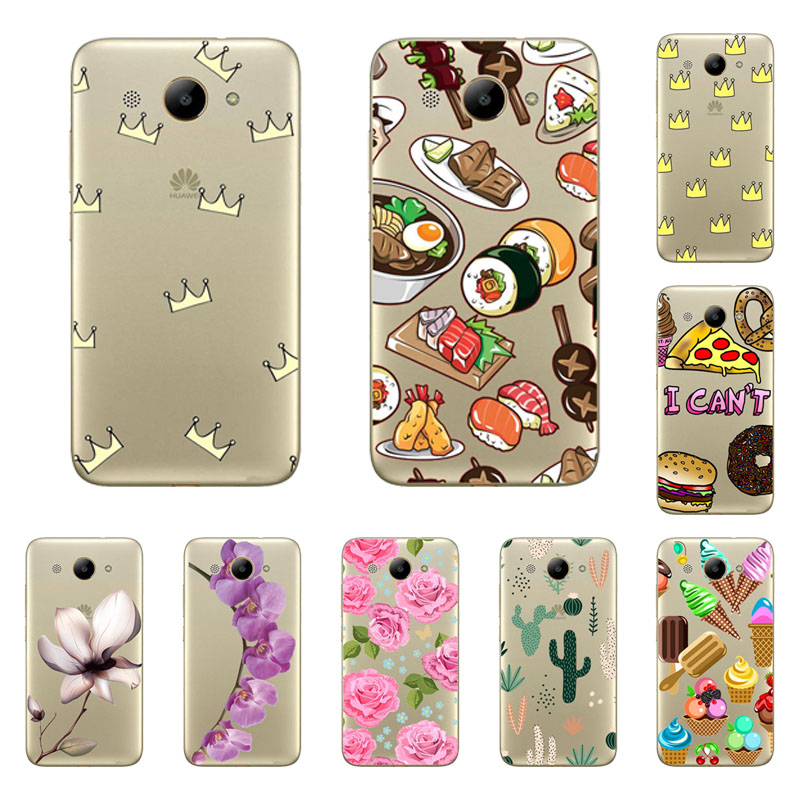 huawei y3 2017 Case,Silicon cutout Painting flower Soft TPU Back Cover for huawei y3 2017 Protect Phone cases shell