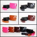 PU Leather Camera Bag Case Cover Pouch For Sony RX100 RX100II RX100III RX100IV M1 M2 M3 M4 with Shoulder strap