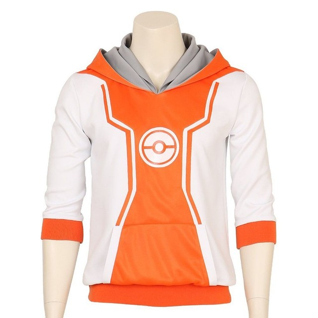 3219c9cc Pocket Monster Trainer Orange Hoodie Hooded Jacket Sweater Suit Pokemon Go  logo Team Cosplay Costume Male Female S-XXL