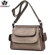 Famous Brand Leather Shoulder Bag Female Designer Casual Crossbody Bags for Women Simple Messenger Bag Sac A Main Bolsa Feminina
