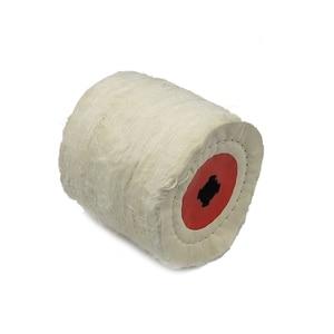 Image 4 - 1 peça 120*100*19mm + 4 sulco, pano de algodão polimento roda de polimento para acabamento de metal