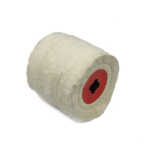 Image 4 - 1 stück 120*100*19mm + 4 Nut, Baumwolle Tuch Polieren Polieren Rad für Metall Finishing