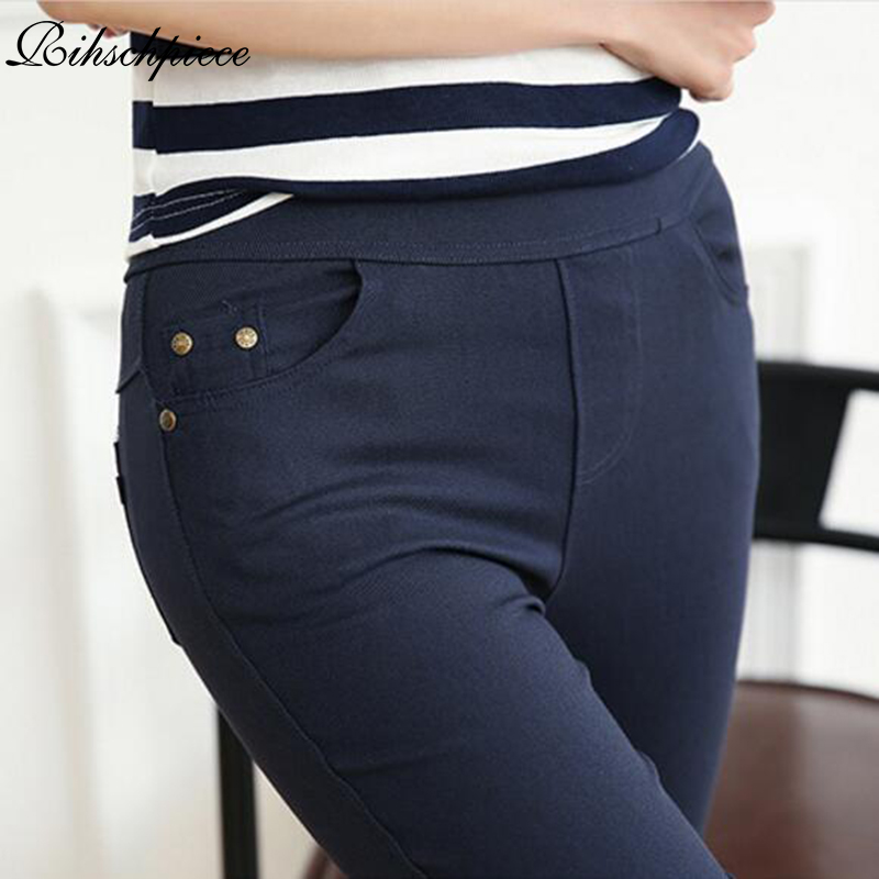 Rihschpiece Women Pants Trousers Legging Punk Black Thick High-Waist Winter Plus-Size title=