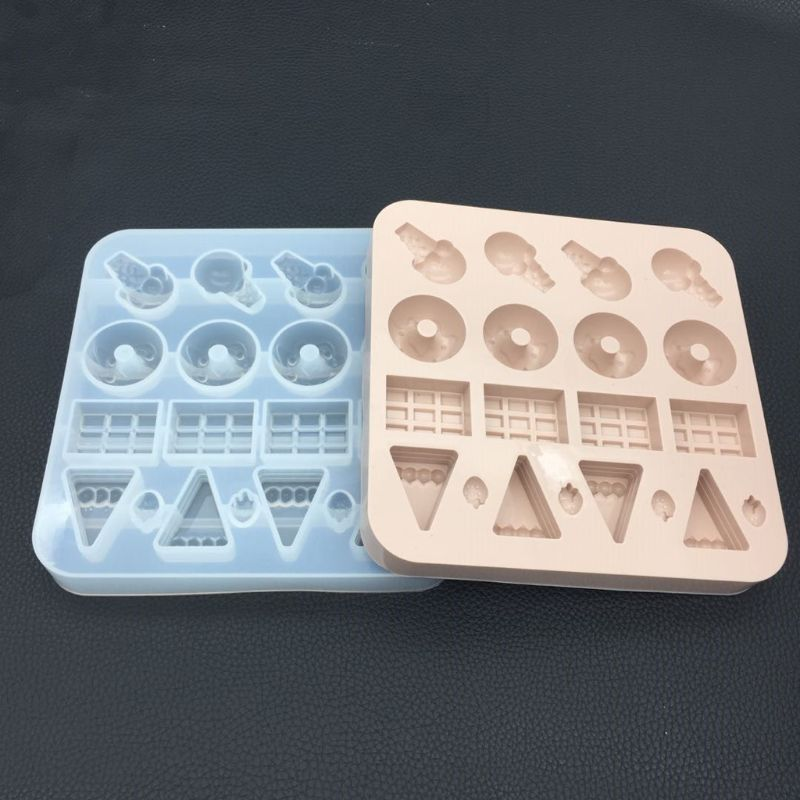 Silicone Resin Mold Simulated Food Doughnut Mold Resin Casting Pendant Earrings DIY Jewelry Tools