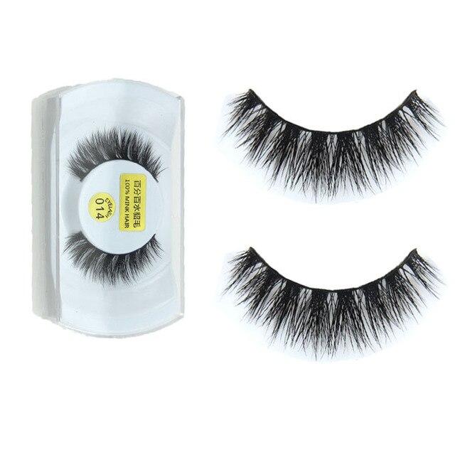 983557e5558 3D Real Mink Fur False Eye Lashes Makeup Thick Fake Eyelashes Extension  Lashes Cosmetics Tool
