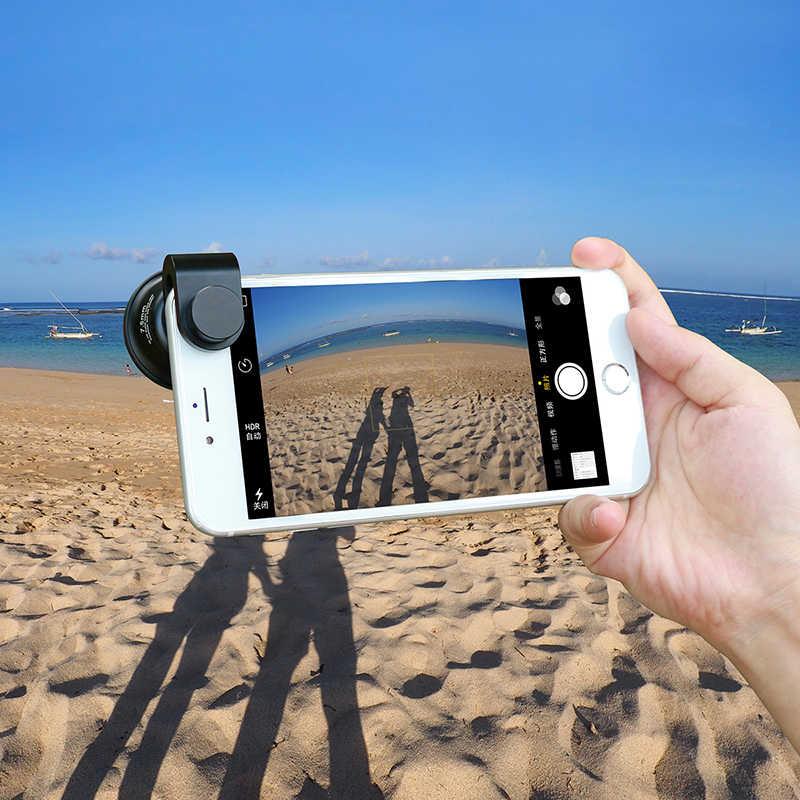 Ulanzi 238 Degree Fisheye HD Lens 0.2X Wide Angle Lens for iPhone X 7 6 Samsung Huawei Xiaomi 4K HD Clip-On Camera Phone Lens