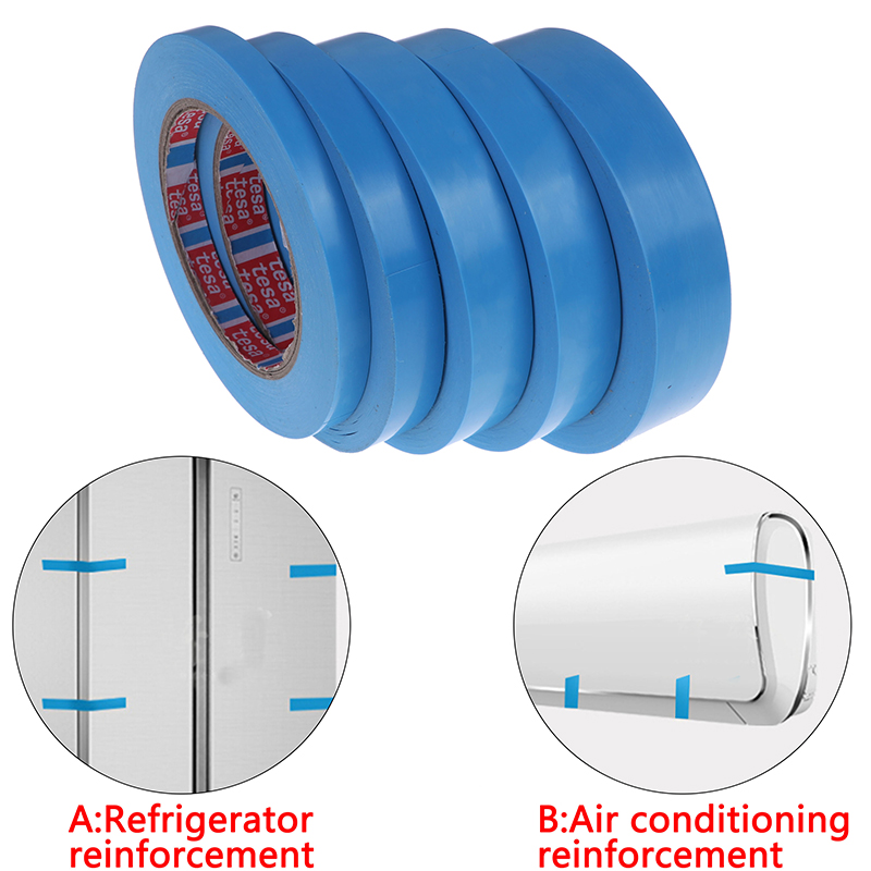 1Roll Blue Refrigerator Tape Appliance Facsimile Printer Air Conditioning Parts Fixed Tape No Trace Single-sided Tape 50M