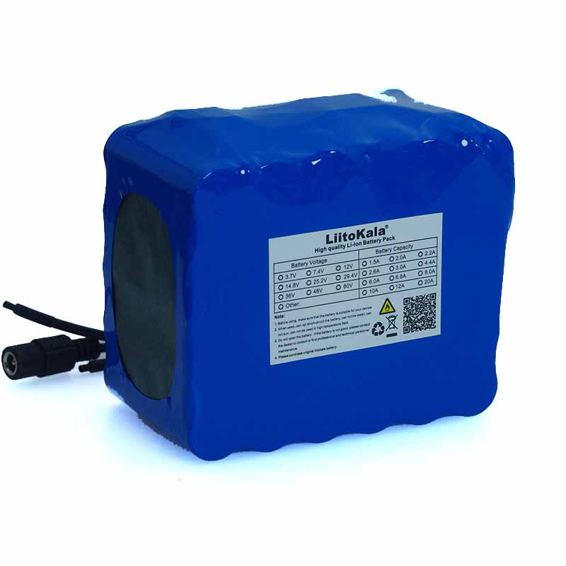 Image 4 - LiitoKala 24V 10Ah 6S5P 18650 Battery li ion battery 25.2v 10000mAh electric bicycle moped /electric battery pack+2A Charger-in Battery Packs from Consumer Electronics