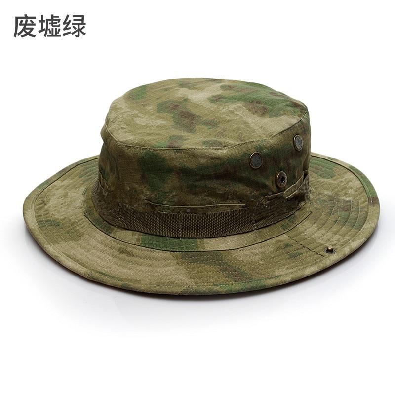 9c3579c990 Men Bucket Hats Tactical Boonie Hat Male Combat Camouflag Fishing Hat CP  ACU Digital Sun Cap Army Climbing Round Brim Hat