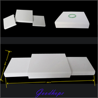 Jewellery Mannequin Model Stents Holder Lot 3 Pcs White Faux Leather Display Set Showcase Counter Top