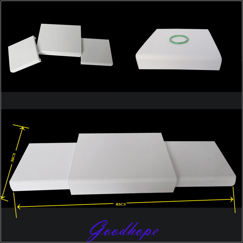 Joyería maniquí modelo Stents soporte lote 3 piezas juego de exhibición de cuero de imitación blanco Mostrador de exhibición de joyería superior-in Envase y exposición de joyería from Joyería y accesorios    1