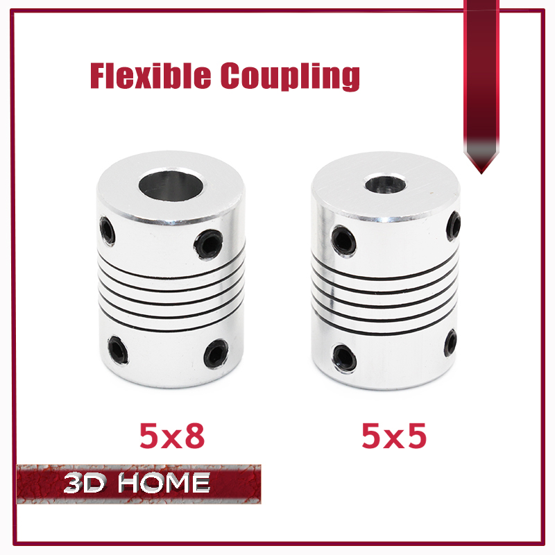 3Pcs/lot 3D printer Stepper Motor Flexible Coupling Coupler /Shaft Coupling 5mm*8mm*25mm / 5*5mm / 6.35*8mm Flexible Shaft flexible shaft coupling od18mmx25mm cnc stepper motor coupler connector 6 35 to 8mm