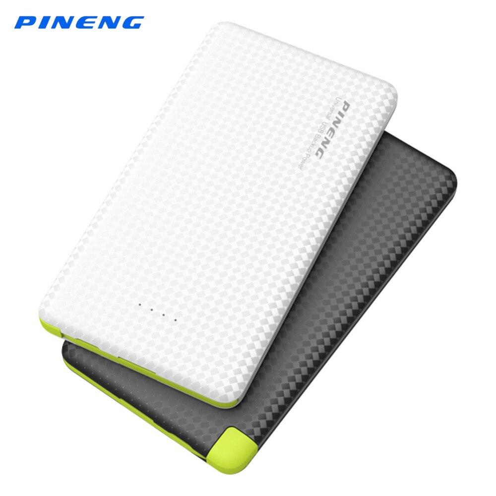 Цена за 5000 мАч Оригинал Pineng Мощность Bank литий-полимерный Батарея Портативный Зарядное устройство Dual USB Мощность банка для iPhone 5 S 6S 7 смартфон PN952
