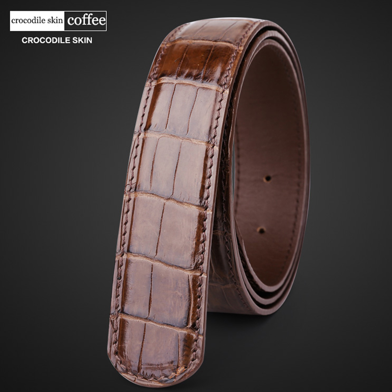 Image 5 - male belt without buckle mens genuine leather belt men luxury strap belts for men high quality crocodile belts mens leather 6350-in Men's Belts from Apparel Accessories