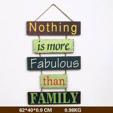 Retro creative wooden house number shop signboard welcome to listing decoration wall hangings