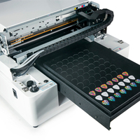 small flatbed printer for phone case card wood metal digital A3 glass uv printer