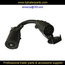 Трейлер провода Адаптер 7 RV лезвие к 7 контактный контакт, трейлер адаптер Разъем 7 контактный трейлер запчасти