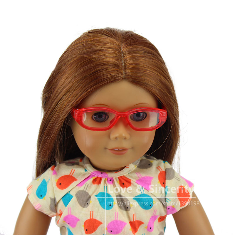 Fashion Glasses Fit For American Girl Doll 18  American Girl Accessories free shipping doll accessories 5 colors round shaped round glasses glasses sunglasses suitable for 18 inch american girl doll