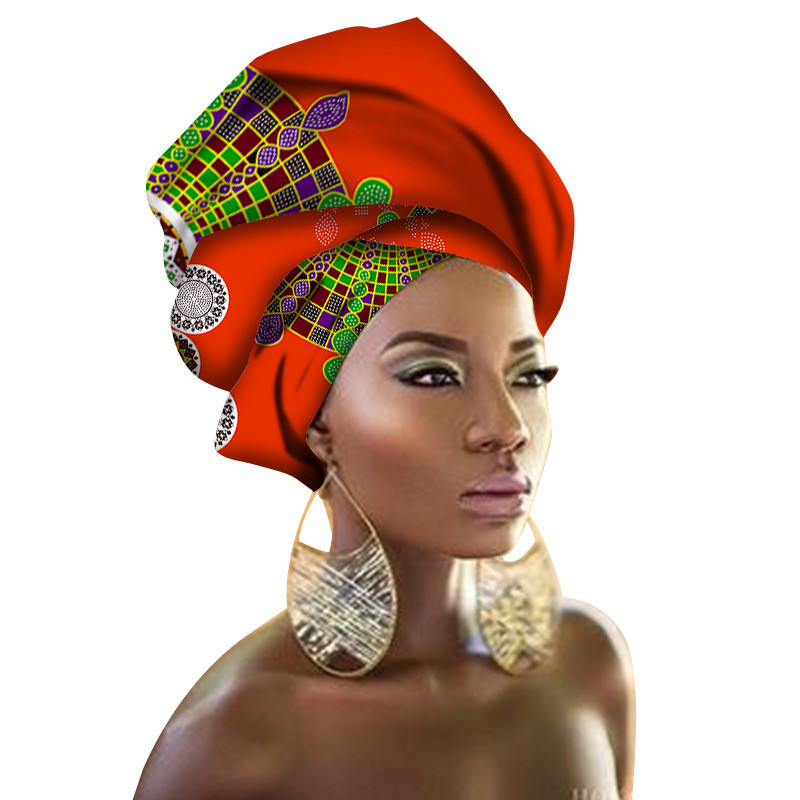 African Head Wraps Tranditional Style African Headtie Dashiki Head Tie for Women Headwrap African Head Scarf 180*56cm(70*22inch)