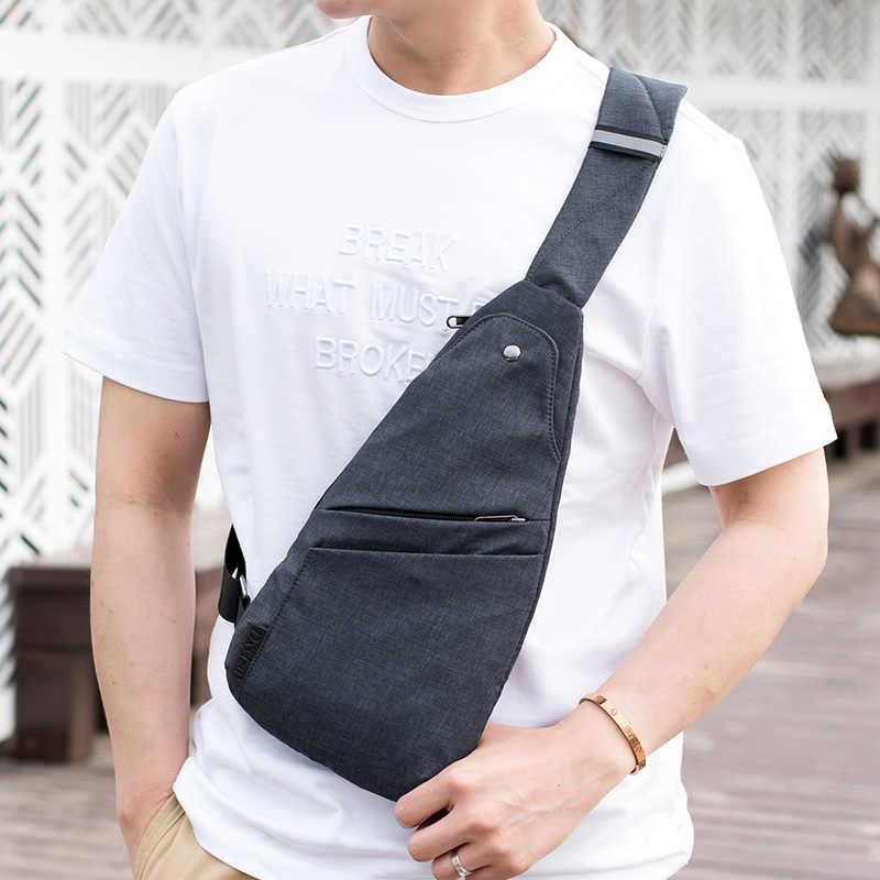 Мужская Противоугонная сумка, мужская сумка на одно плечо, водонепроницаемая сумка для мальчика, маленькая сумка для путешествий, тонкая мини сумка через плечо, дропшиппинг