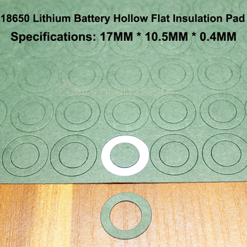 100pcs/lot 18650 Lithium Battery Anode Hollow Flat Insulation Gasket Meson Barley Paper Pad Diy Fittings 100pcs lot lithium battery positive hollow insulating mat 21700 flat head insulation mat meson paste head gasket 20mm 11 5mm