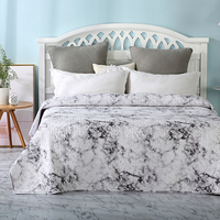Bed Quilt Bedspread and Coverlet Microfiber Thin Comforter Full/Queen
