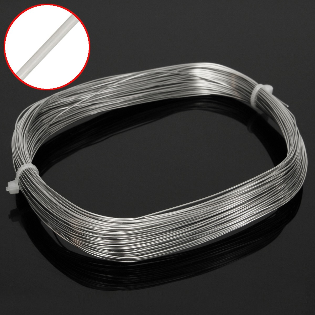 30 M x 0.6mm 304 acier inoxydable câble métallique traction Structure souple câble pêche câble de levage corde à linge
