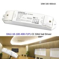 LTECH 10W 100 400mA CC DALI Led Driver DALI 10 100 400 F1P1 AC100 240V Input