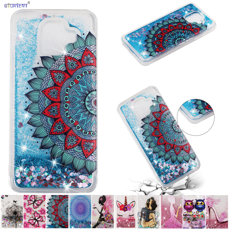 For Samsung Galaxy A6 2018 Glitter Cover A600 SM-A600FN/DS SM-A600X SM-A600FN TPU Phone Case SM A600X A600FN A600FN/DS A 6 Funda image
