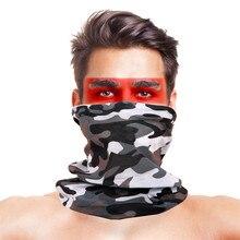 Военные камуфляжные походные шарфы с высоким прыжком, полиэфирные ветрозащитные грелки для шеи, анти-УФ тактическая Бандана с изображением масок для лица, аксессуары