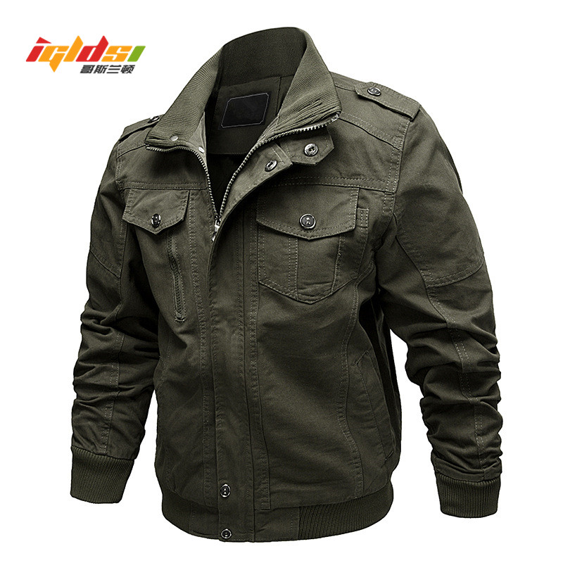 Lega Mens Casual Cotton Coat Bomber Jacket Windbreaker Jacket