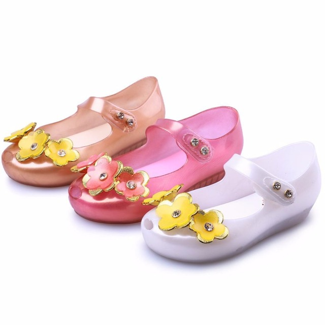 Mini melissa 2018 new children shoes sandals flowers children mini melissa 2018 new children shoes sandals flowers children comfortable baby shoes buttons beach shoes pink mightylinksfo